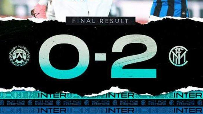 Hasil Serie A Liga Italia Udinese vs Inter Milan, Romelu Lukaku Cetak 2 Gol, Inter Milan Menang