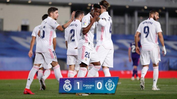 Hasil Liga Spanyol Real Madrid vs Valladolid, Gantikan Luka Jovic, Gol Vinicius Jr Menangkan Madrid