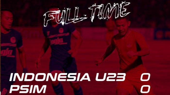 Timnas U23 Indonesia vs PSIM Yogyakarta Berakhir Seri Tanpa Gol, Indra Sjafri Akan Coret 4 Pemain