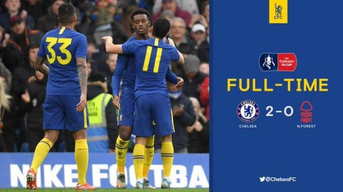 Hasil Piala FA Chelsea vs Nottingham Forest, Chelsea Menang 2-0, Lampard: Harusnya Lebih dari 2 Gol