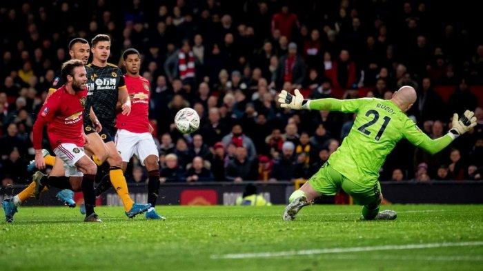Hasil Piala FA - Gol Tunggal Juan Mata jadi Penentu Kemenangan Man United dari Wolves