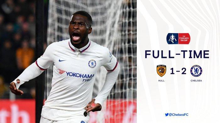 Hasil Piala FA Liga Inggris Hull City vs Chelsea, Michy Batshuayi - Tomori Cetak Gol, Chelsea Menang