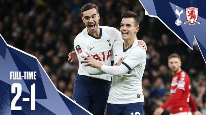 Hasil Laga Replay Piala FA  Tottenham vs Middlesbrough, Spurs Menang Karena Blunder Pemain Lawan