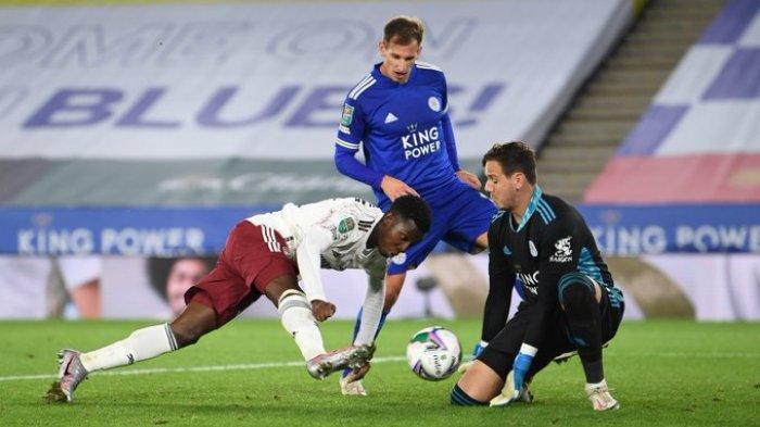 PIALA LIGA INGGRIS - Arsenal sukses menekuk Leicester City pada babak ketiga Piala Liga Inggris 2020-2021 atau Carabo Cup di Stadion King Power, Kamis (24/9/2020) dini hari WIB