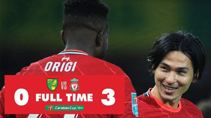 Berita Liverpool Lawan Norwich City, Takumi Minamino Cetak 2 Gol, Liverpool Menang
