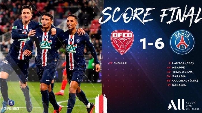 Dijon vs PSG, Kylian Mbappe Dkk Pesta 6 Gol, Lolos ke Semifinal Piala Perancis