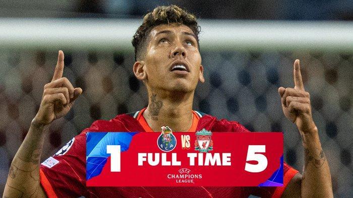 Hasil FC Porto vs Liverpool, Mo Salah 2 Gol, Firmino 2 Gol, Liverpool Menang, Pesta 5 Gol
