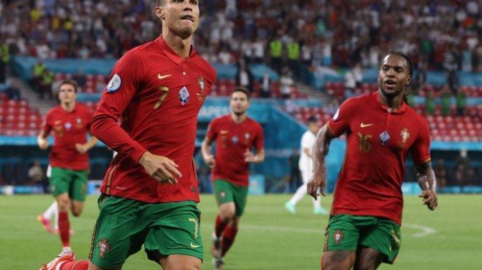 Hasil EURO 2020 - Dua Gol Penalti Cristiano Ronaldo Bawa Portugal Tahan Imbang Prancis