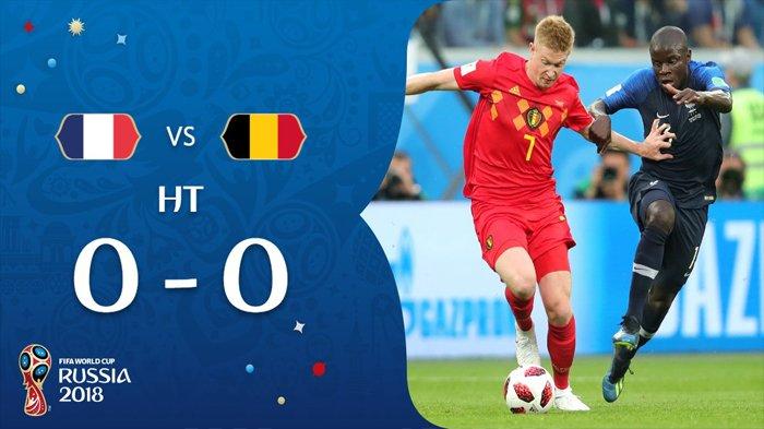 Hasil Semifinal Piala Dunia 2018 Perancis vs Belgia - Babak Pertama Berakhir Seri 0-0