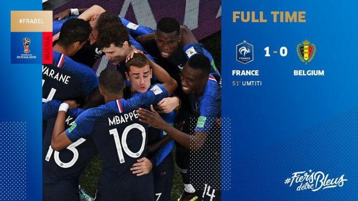 Hasil Prancis vs Belgia - Les Bleus ke Final. Ini Rekor Kiper Llrois dan Catatan Hebat Bek
