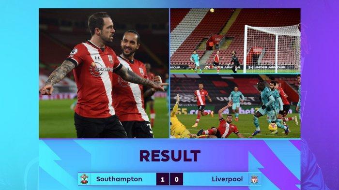 Hasil, Klasemen, Top Skor Liga Inggris Setelah Southampton Menang, Liverpool Kalah, Danny Ings 7 Gol