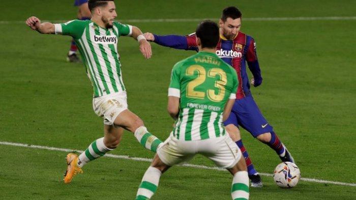 Hasil Liga Spanyol - Barcelona Tumbangkan Real Betis 3-2, Lionel Messi Catatkan Rekor Baru