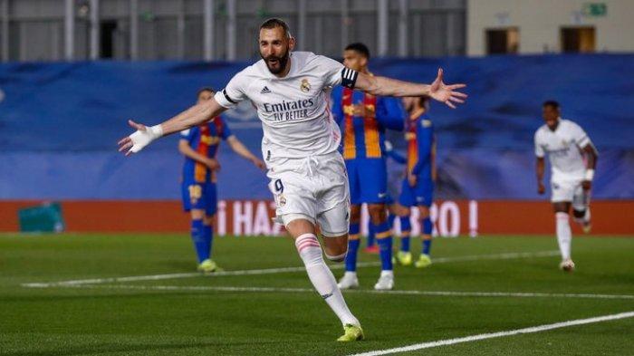 Hasil Liga Spanyol - Gol Backheel Benzema Bawa Real Madrid Permalukan Barcelona