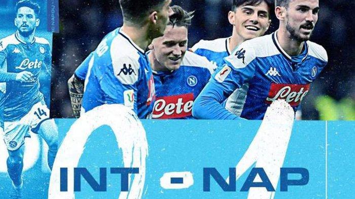 Hasil Semifinal Coppa Italia Inter Milan vs Napoli, Gol Fabian Ruiz Bungkam Inter di Giuseppe Meaza
