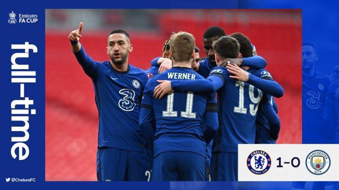Hasil Chelsea vs Man City, Gol Tunggal Hakim Ziyech Antar Chelsea ke Final Piala FA