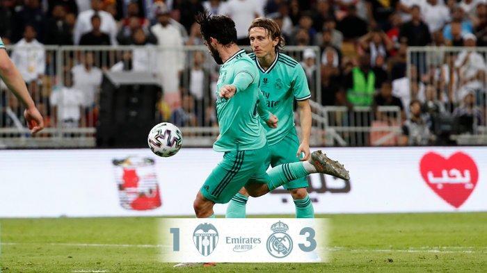 Hasil Piala Super Spanyol Valencia vs Real Madrid, Toni Kroos Cetak Gol Pisang, Madrid Menang