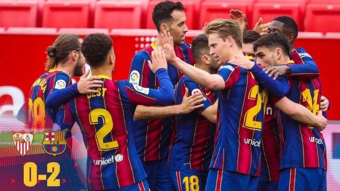 Hasil Sevilla vs Barcelona, Ousmane Dembele & Lionel Messi Cetak Gol, Barcelona Menang