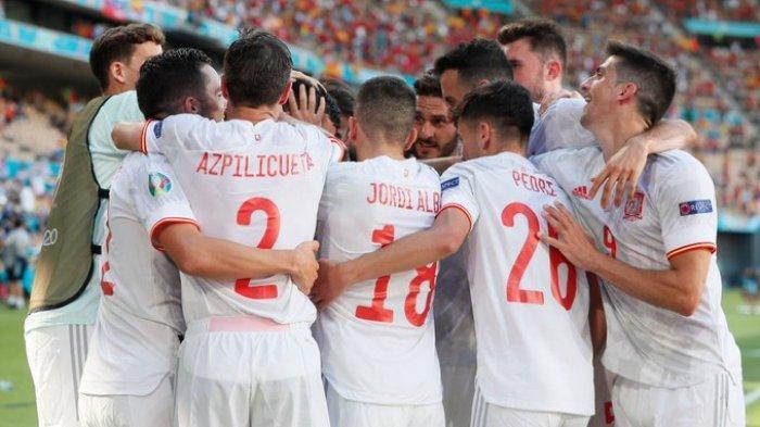 Hasil EURO 2020 - Spanyol Pesta Gol ke Gawang Slovakia, La Furia Roja Lolos Babak 16 Besar