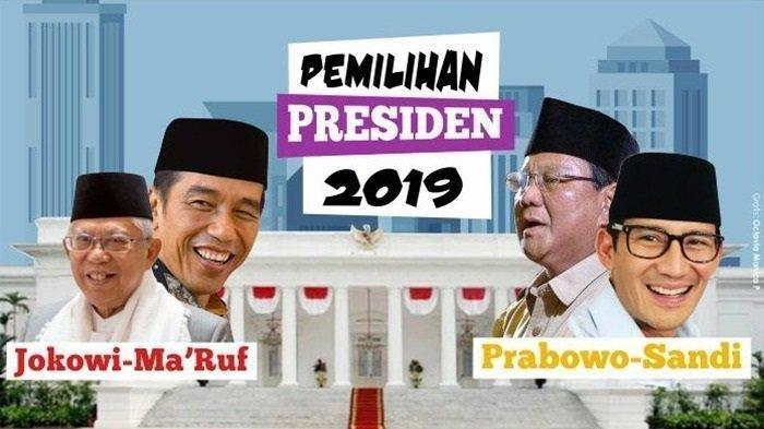 HASIL Real Count Pilpres 2019 Jumat (17/5) Jam 07.00 WIB Data 85 Persen, Ini Suara Jokowi vs Prabowo
