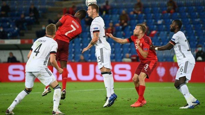 Hasil UEFA Nations League - Jerman Ditahan Imbang Swiss 1-1, Eks Pemain MU Cetak Gol