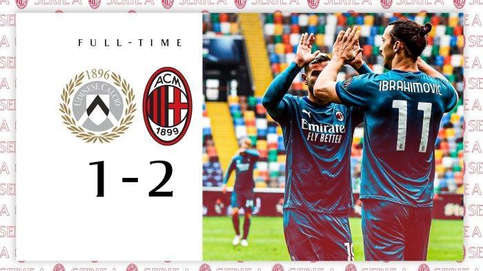 Hasil Liga Italia Udinese 1-2 AC Milan, Minggu (1/11/2020)