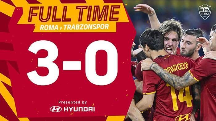 Hasil AS Roma vs Trabzonspor - Cristante, Nicolo Zaniolo, El Shaarawy Cetak Gol, AS Roma Menang