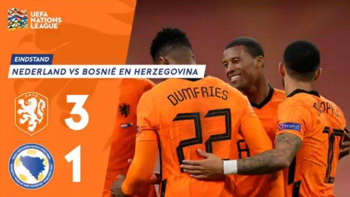 Hasil UEFA Nations League Belanda vs Bosnia & Herzegovina, 2 Gol dari Wijnaldum, Belanda Menang