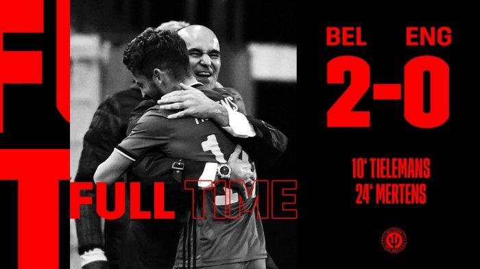 Hasil UEFA Nations League Belgia vs Inggris, Gol Youri Tielemans dan Dries Mertens Kalahkan Inggris