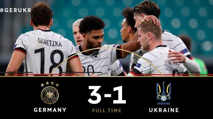 Hasil UEFA Nations League Jerman vs Ukraina, Dua Gol dari Timor Werner, Jerman Kalahkan Ukraina