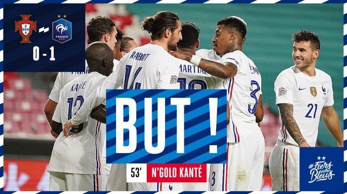 Hasil UEFA Nations League, Portugal vs Prancis, Gol N'Golo Kante Kalahkan Portugal
