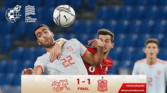Hasil UEFA Nations League Swiss vs Spanyol, 2 Penalti Sergio Ramos Gagal, Moreno Selamatkan Spanyol