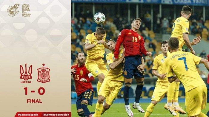 Hasil Ukraina vs Spanyol, Spanyol Kalah, Luis Enrique: Berhenti Menyalahkan David de Gea