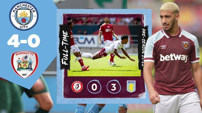 Hasil Ujicoba Pramusim Klub Liga Inggris 2021-2022, Man City 4-0, Aston Villa 3-0, Leicester 3-3