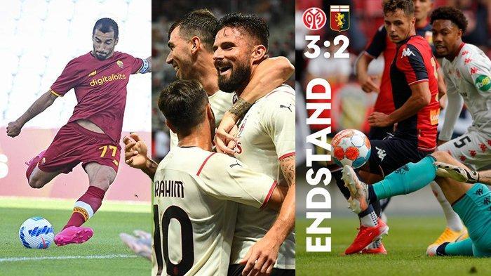 Hasil Ujicoba Pramusim Klub Liga Italia 2021-2022: AS Roma 0-0, AC Milan 1-1, Juventus 2-1