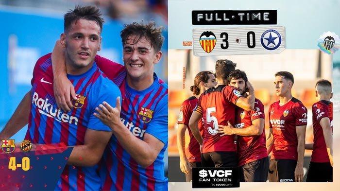 Hasil Ujicoba Pramusim Klub Liga Spanyol Barcelona 4-0, Valencia 3-0, Real Madrid 1-1