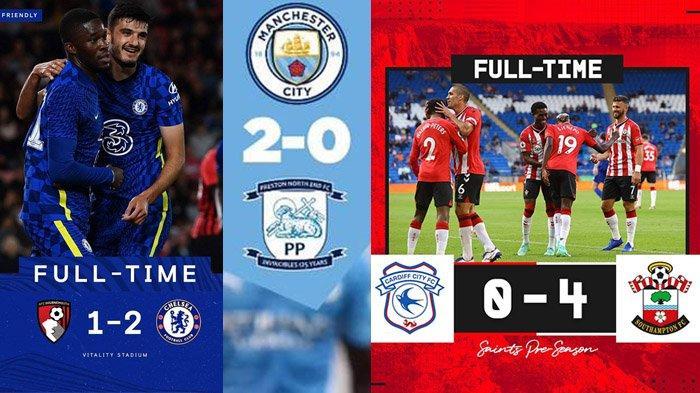 Hasil Ujicoba Pramusim Klub Liga Inggris 2021-2022 Chelsea 2-1, Manchester City 2-0, Everton 1-1
