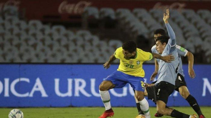 Hasil Babak I Uruguay vs Brazil, Tim Samba Unggul 2-0, Gol Dicetak Arthur Melo dan Richarlison