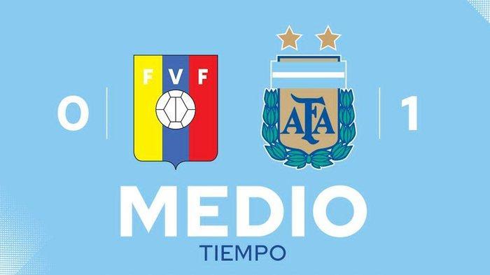 Hasil Venezuela vs Argentina, Lautaro Martinez Cetak Gol, Babak I Argentina Menang 1-0