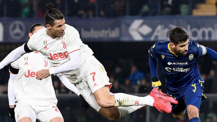 Hasil Liga Italia - Sempat Unggul Lewat Gol Cristiano Ronaldo, Juventus Takluk Dikandang Verona