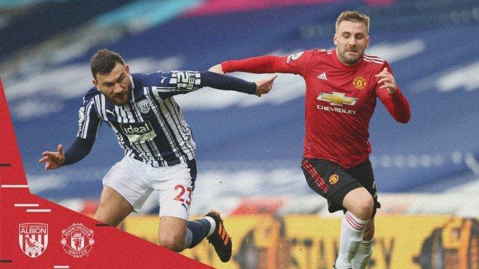 Hasil West Brom vs Manchester United - Hasil babak 1 berakhir imbang 1-1, Minggu (14/2/2021)