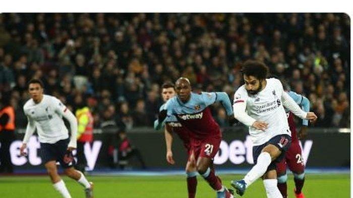 Hasil Liga Inggris West Ham vs Liverpool, Gol Mo Salah Bawa The Reds Unggul di Babak Pertama