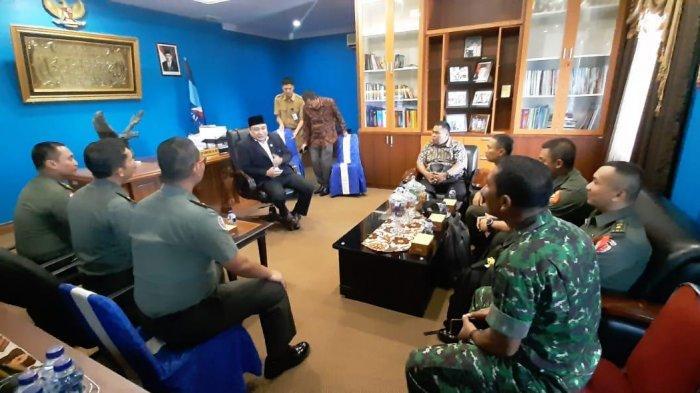 Gali Keutuhan NKRI Pasca Pemilu, Helmy Terima Kunjungan Sesko TNI AD