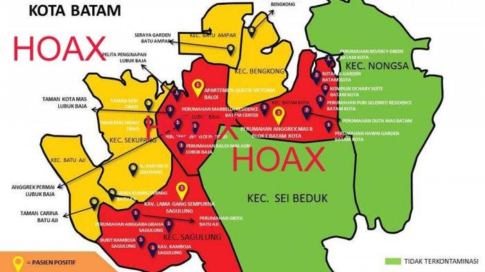 HOAX! Peta Penyebaran Covid-19 di Batam, Kadiskominfo: Jangan Sebar Sembarangan!