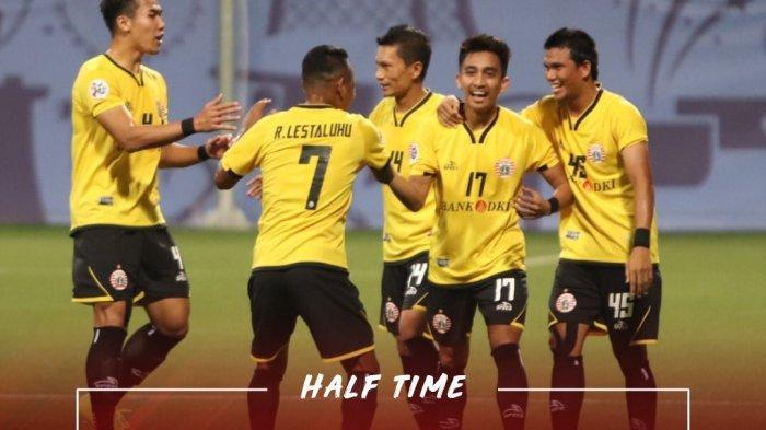 Hasil Babak Pertama Home United vs Persija di PlayOff LCA. Macan Kemayoran Ditahan Imbang, Skor 1-1