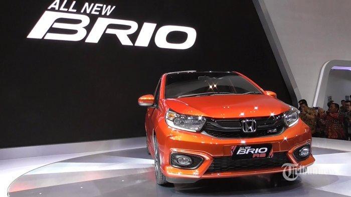 Honda All New Brio dipamerkan untuk pertama kalinya dalam ajang Gaikindo Indonesia International Auto Show (GIIAS) 2018 yang digelar di gedung ICE, BSD, Tangerang, Banten, Kamis (2/8/2018). (TRIBUNNEWS.COM/LENDY RAMADHAN)