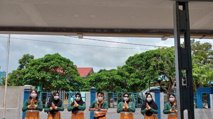 Tenaga kesehatan Puskesmas Raya, Kecamatan Singkep Barat, Kabupaten Lingga rayakan HUT puskesmas dengan aneka lomba, Sabtu (30/1).