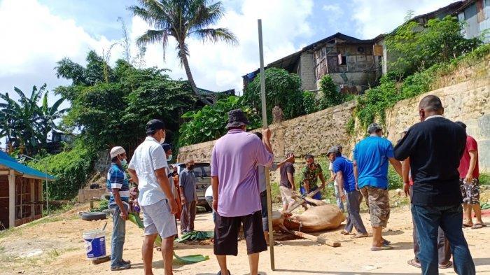Idul Adha saat PPKM Darurat Batam, Warga Kaveling Bukit Makmur Lihat Kurban dari Jauh