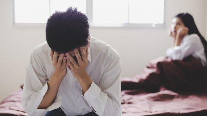 Ilustrasi stres masalah keuangan keluarga