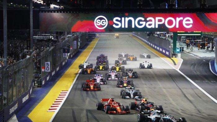 Ilustrasi F1 di Singapura