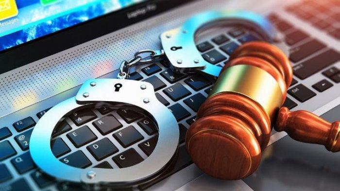 Ilustrasi penegakan hukum UU ITE